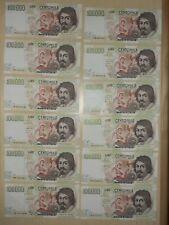 """Splendido LOTTO di 12 BANCONOTE LIRE 100000 """"CARAVAGGIO"""""""