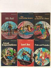 Lot 6 Pocket Classic 1984 Comic Style Book Literature AUSTEN Pride & Prejudice