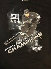 LA KINGS Drew Doughty 2014 STANLEY CUP CHAMPIONS T-SHIRT Size Large