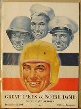 1944 Great Lakes vs Notre Dame Football Program-Paul Brown