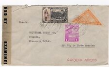 World War Ii Censored cover Bolivia Combo with triangle stamp