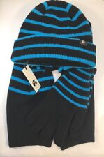 Paul Smith Men Scarf, Gloves And Hat Set 100% Lambs Wood Made In Scotland Black