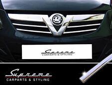 Vauxhall Corsa D 06-11 CROMO BARRE decorative 3m TUNING per griglia anteriore sopra