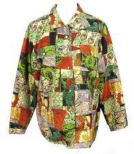 Nexx Jacket Sz L 100% Silk Floral Paisley Multi Color Lined Womens Large