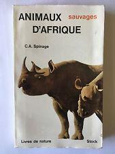 ANIMAUX D'AFRIQUE SAUVAGES SPINAGE ILLUSTRE LIVRES NATURE