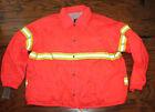 Men's Brite Threads Orange Reflective Wind breaker Jacket Size M NWT