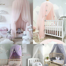 UK Kids Baby Bed Canopy Bedcover Mosquito Net Curtain Bedding Dome Tent Cotton