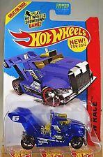 2014 Hot Wheels #175 HW Race X-Racers RIG STORM Blue Variant w/Black OH5 Spoke