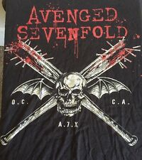 Avenged Sevenfold Xl T Shirt Black 2011 A7x  Original Short Sleeve