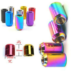 Set of Chrome Inner Hex Neo Rounded Tuner Racing Steel Wheel Lug Nuts M12x1.25mm