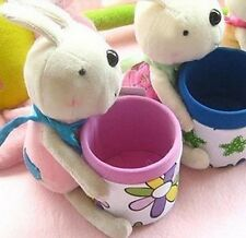 Rabbit Brush Pot Pen Container Cell phone Holder Gift