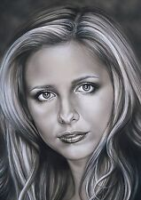 buffy the vampire slayer 5 x 7  original print.artwork by duncan gutteridge