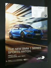 BMW 1 Series Sports Hatch 2017 Price List  ( Dealer Business Card Attached)