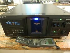 Sony Cdp-Cx450 400 Cd Player With Remote Belts Replaced Multi Disc Jukebox