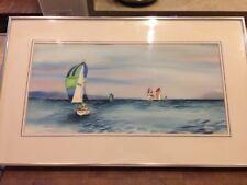 Sailing Watercolor Painting