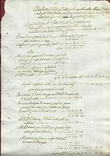 Resoconto Manoscritto Spese Di Blasi Corte Spirituale di Bronte Sicilia 1733
