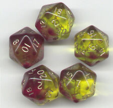 RPG Dice Set of 5 D20 - Gem Blitz / Firefly Blue