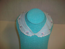 "Vintage Floral Embroidered Collar measures 15"" around the inside snaps in back"