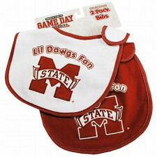 Mississippi State Bulldogs Baby Bibs 2 Pack [NEW] Infant Toddler Cotton NCAA