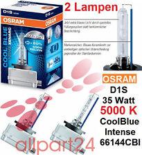 2 Paquete Osram D1S 66144CBI Xenarc Coolblue Intense 2 Lámparas 12V 35W PK32D-2