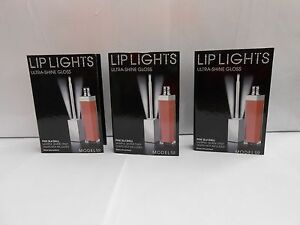 3 Model Co Lip Lights Ultra Shine gloss Sample - no lights PINK SEA SHELL