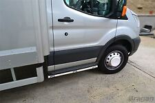 To Fit 07 - 14 Ford Transit MK7 Chassis Cab Tipper Pickup Side Bars + LEDs