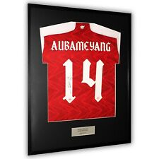 More details for aubameyang signed arsenal shirt framed display fa cup final 2019/20 home - coa