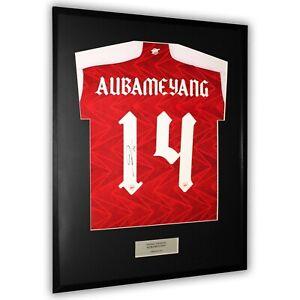 Aubameyang Signed Arsenal Shirt Framed Display FA Cup Final 14 Jersey *COA*