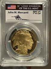 2018-W $50 1oz Proof Gold Buffalo PR70DCAM PCGS MERCANTI First day of issue