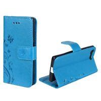 Custodia Protettiva Fiori per Cellulare Sony Xperia X Compatto Blau Wallet Case