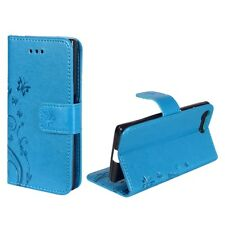 Cases Flowers for Mobile Phone Sony Xperia X Compact BLAU Wallet Cover