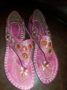 Slingback Toe Post Flat Holiday Sandals Summer 6 1/2