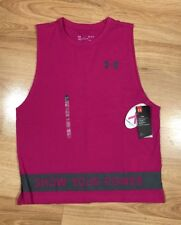 UNDER ARMOUR Sleeveless Shirt Womens Medium Pink And Gray NWT!!