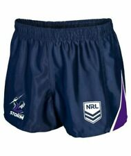 NRL Supporter Footy Shorts - Melbourne Storm - Kids Youth Adults - Training
