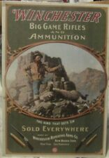 "Winchester Big Game Riffles and Ammunition Tin Sign 16"" X 12.5"" Sold Everywhere"