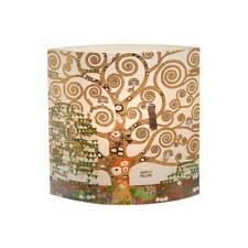 Gustav Klimt Tischlampe, Leuchte DER LEBENSBAUM Glas 25x25cm Goebel Porzellan