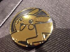 HOLO GOLD SHEEN PIKACHU SUN/MOON COIN large size 3.4cm Pack Fresh Mint Condition