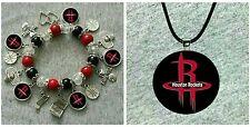 Houston Rockets necklace and bracelet set