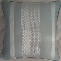 A 16 Inch cushion cover in Laura Ashley Nelson Duck Egg Fabric