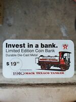 Vintage poster Texaco The Texas Company Plastic Rare Collectable size 12.5/23.5