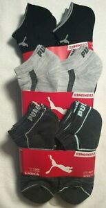 Puma Women's Sport Cushioned Low Cut Socks 6 Pair Sock Size 9-11 Shoe Size 5-9.5