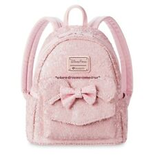 Disney Parks Minnie Mouse Millenial Pink Mini Sequined Backpack by Loungefly New