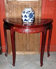 Chinese Antique Rosewood Half Moon Table