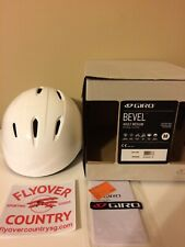 NIB Giro Bevel Snowsports Helmet Gloss White Adult Medium Free Shipping