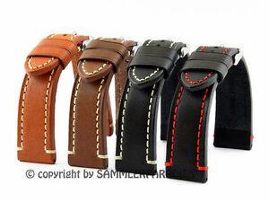 Look rétro Bracelet Montre Cuir 18, 20, 22, 24mm Pour Homme CATALONIA Band Strap