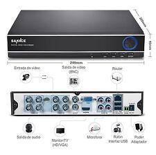 SANNCE 8CH 960H Video DVR HDMI Remote APP Home Surveillance Email Alert NO HDD