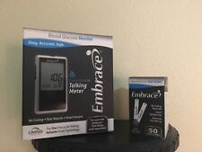 Embrace Glucose Diabetic Test Strips 50 WITH TALKING METER--Freaky Fast Shipping