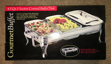New 4.5 Quart High Quality Stainless Steel Covered Buffet Dish(1.5 Qt Sections)