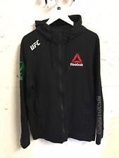 Reebok Conor McGregor Black Zip Hoodie Hoody UFC Slogan Size M L Sweatshirt