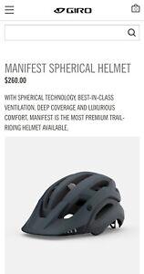Giro Manifest Spherical Trail Riding Helmet, Matte Grey, Large